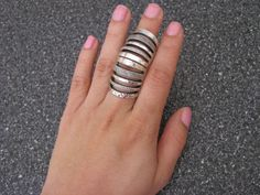 Silver Metal Armour Knuckle Cage Hinged Double Full Finger Shield Armour