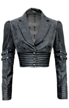 Black Brocade Bolero Jacket