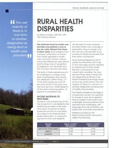 The obstacles faced by health care providers and patients in rural areas are vastly different than those in urban areas. Rural residents face a unique combination of factors that create disparities in health care; economic factors, cultural and social differences, educational shortcomings, lack of recognition by legislators, and the sheer isolation of living in remote rural areas. Rural Health, Rural Area, Factors, Remote, Health Care, How To Apply, Urban, Pilot