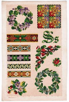 Part of a series of Berlin Woolwork patterns Suspect there were about 26 pages.