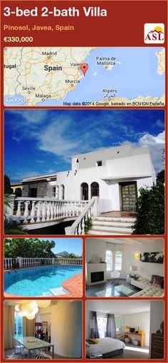 3-bed 2-bath Villa in Pinosol, Javea, Spain ►€330,000 #PropertyForSaleInSpain