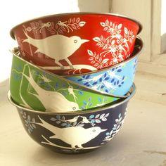 Enameled Tin Bowls