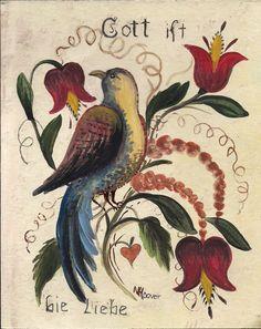 folk art pennsylvania dutch | Pennsylvania Dutch Folk Art God is Love
