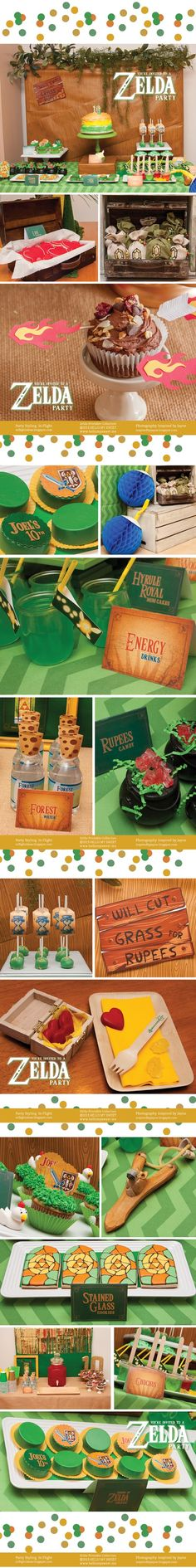 Legend of Zelda Party  In Flight Styled Zelda Birthday Party Hello My Sweet Printables Inspired by Jayne Photography #Knoxville