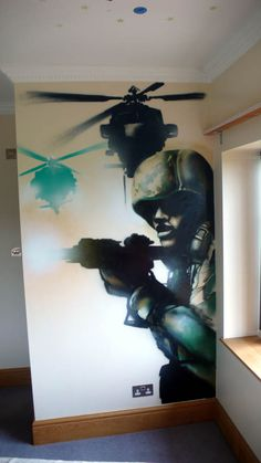 graffiti call of duty - cool for a den/gaming room
