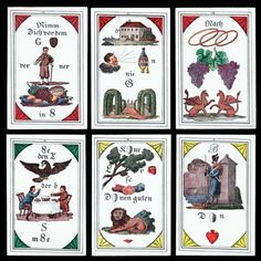 1974 Rar! Präciosa s Orakelsprüche Karten ND.1830 Wahrsagekarten Tarot Lenormand