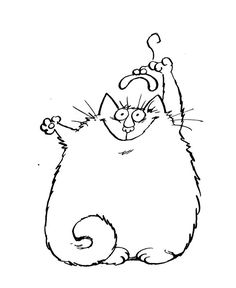 1000 images about christmas digi 39 s on pinterest digi for Fat cat coloring pages