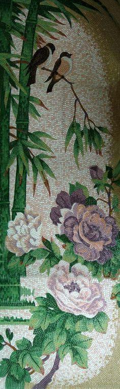 Мозаичное панно из стеклянной мозаики