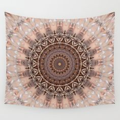 Black Friday - 20% Off + Free Shipping on Everything Today!  Mandala romantic pink Wall Tapestry