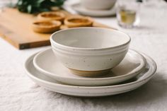 Getting married soon? Consider adding Hanselmann Pottery to your registry. Our stoneware plates are timeless and made individually by hand. We'll make your pieces from scratch and fire your order together for a place setting that is cohesive, handcrafted, and heirloom quality. Plus our durable stoneware is microwave, dishwasher, and oven safe. Your Hanselmann Pottery collection will be one you'll want to pass on to your kids.  Pictured: Hanselmann Pottery Place Setting, $127.