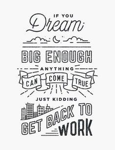 """""""Get Back To Work"""" poster design by Virginia-based artist Drew Ellis / via design is mine"""