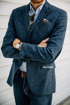 April 30, 2015. I just blue myself.Blazer: 100% Shetland Wool - H&M - $60 (similar)Shirt: Aspecd Apparel (c/o) (similar)Jeans: H&M - $30 (similar)Shoes: Holt - Robert Wayne - (JackThreads)Pocket Square: PP830 - The Tie Bar - $10Sunglasses: Ray Ban Clubmaster - $87 (cheaper)Watch: Timex Easy Reader - Target - $30 Watch Strap: Hadley-Roma in Honey Oil Tan - Amazon - $18