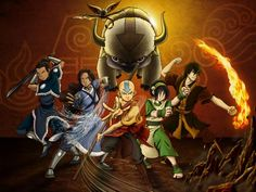 Anime Avatar: The Last Airbender Aang Katara Sokka Toph Beifong Prince Zuko Momo (lemur) Appa Avatar Aang, Avatar Last Airbender Movie, The Last Airbender Cartoon, The Last Airbender Characters, Team Avatar, Cartoon Cartoon, Avatar Cartoon, Avatar Equipe, The Legend Of Korra