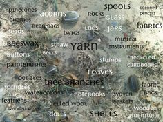 Play resources available now in nature. Gloucestershire Resource Centre http://www.grcltd.org/scrapstore/