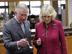 Prince Charles, Prince of Wales and Camilla, Duchess of Cornwall take part in a tea tasting during their visit to the tasting rooms and cookery school at Taylors of Harrogate as part of their tour of the area on February 18, 2016 in York, England.