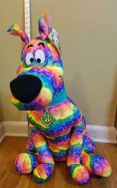 "Scooby-Doo 28"" Tie-Dye Large Plush Dog Toy Factory Stuffed Animal NWT  | eBay"