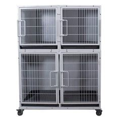 Paw Brothers Professional Half Bank Modular Cage Complete Medium-Short are built to last. Ryan's Pet Supplies is your best choice for professional cages! Puppies Tips, Cute Dogs And Puppies, Rescue Dogs, Pet Dogs, Pets, Doggies, Grooming Shop, Dog Grooming, Steel Cage