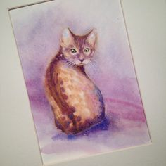If I could I would have a cat. But my husband is allergic to cats... so i cannot have one and instead I paint them... #cat #kitten #кошка #watercolorpainting #watercolour #aquarela #aquarelle #aquarell #акварель #ely #cambridge #живопись #арт #illustration #art #artist #cartel_watercolorists #instaart #artcollective #arts_gallery