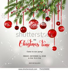 Free Christmas Invitation Template  Christmas Party Invitations
