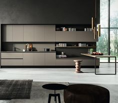 Modern Design Kitchen by Pedini Kitchen at Improve Mall, Toronto 7250 Keele Street, Unit: 8 Vaughan, ON Kitchen Dinning Room, Kitchen Room Design, Best Kitchen Designs, Modern Kitchen Design, Home Decor Kitchen, Kitchen Interior, New Kitchen, Home Kitchens, Modern Design