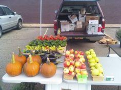 My setup at the Emsworth Farmers' Market.