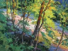 Late Day Riverbank by Steve Atkinson Oil ~ 9 x 12