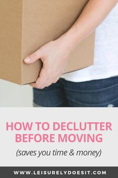 Planning to move into a new home? It's a great time to get rid of things you no longer use or need. Here are some simple tips about how to declutter before moving. Moving House Tips, Moving Tips, Decorating A New Home, Decorating On A Budget, Declutter Your Home, Organizing Your Home, Organizing Ideas, Cleaning Schedule Printable, Save For House