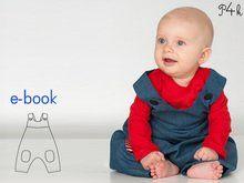 """Schnittmuster Baby Latzhose, Overall, Longies, Strampler, Einteiler, Junge, Mädchen, Ebook Download Anleitung """"Arturo"""" von Pattern4kids"""