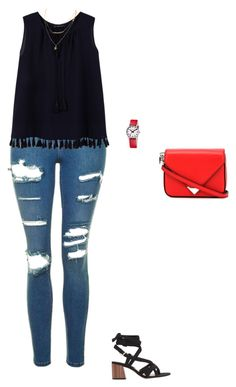 """""""Untitled #514"""" by taylor-edmonds on Polyvore featuring MANGO, Topshop, Violeta by Mango, Alexander Wang and Mondaine"""