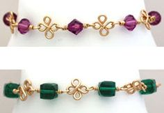 WigJig Four Leaf Clover Bracelet at https://www.wigjig.com/blog/1862-wigjig-four-leaf-clover-bracelet-is-beautiful-and-easy-to-make.  Enjoy.