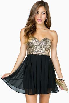 Deep V Bustier Sequin Flare Dress on Wanelo