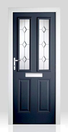 Jacobean ellipse black elite rock door composite door for Upvc french doors homebase