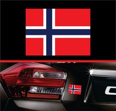 Norway Norwegian Flag Sticker Label Vinyl by SkyhawkStickerDepot