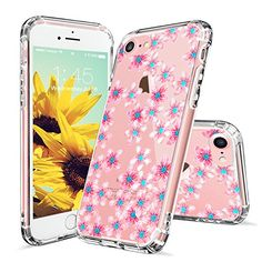 iPhone 7 Case, iPhone 7 Clear Case, MOSNOVO Pink Cherry Blossom Floral Flower Clear Design Transparent Plastic Hard Slim Back Case with Soft TPU Bumper Protective Cover for Apple iPhone 7 (4.7 Inch)