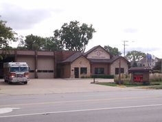 York Center Fire Station on Meyers Road and 16th Street, Lombard, Illinois 60148 USA