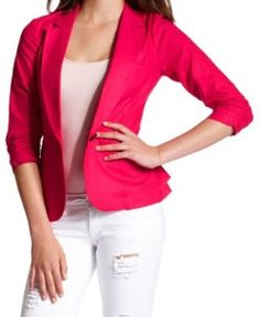 Add a pop of color to your outfit with a bold blazer from #charlotterusse