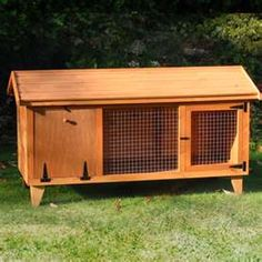 Add on outdoor pen.use left door as ramp Giant Rabbit, Bunny Rabbit, Bunny Hutch, Rabbit Cages, Pets 3, Rabbit Hutches, Urban Homesteading, Farm Life, Outdoor Furniture