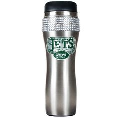 NFL New York Jets 16Ounce Black Stainless Steel Bling Tumbler *** Want to know more, click on the image.