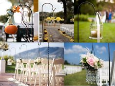 decoration alle eglise deco allee ceremonie mariage bougie bougeoirs suspendus crochet
