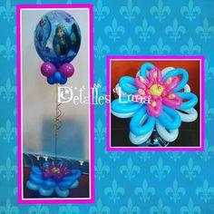 Cumpleaños de Frozen con globos qualatex en @detallesluna