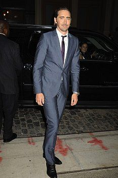 """Lee Pace arrives at The Cinema Society with Men's Fitness and FIJI Water special screening of Marvel's """"Guardians of the Galaxy"""" at Crosby Street Hotel on July 29, 2014 in New York City."""