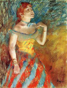 The Athenaeum - Singer in Green (Edgar Degas - )