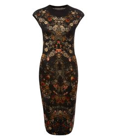 When I fantasize about expensive dresses, I dream Liberty of London. Alexander McQueen Multicolour Floral Print Wool Dress | Dresses by Alexander McQueen | Liberty.co.uk