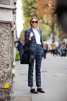 plaid suit. Paris.