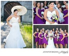 Plum bridesmaid dresses!!