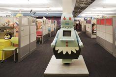 Escritório Cartoon Network. Quero trabalhar aí!