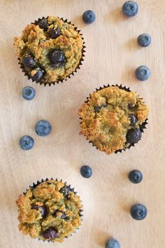 Coconut Blueberry Muffins - Gluten Free & Dairy Free. I suggest to try making this recipe with ground flax seeds instead of the chia seeds. Very different flavors, but both come out moist and delicious.