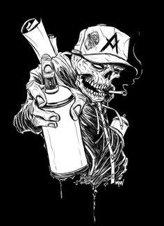 anarchy skull - cool tattoo idea