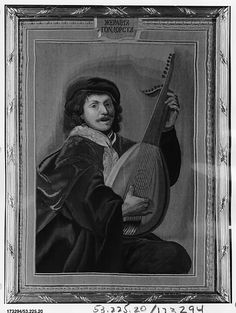 Imperial Russian Tapestry Manufactory, Saint Petersburg | Man with a Lute | Russian, late 18th century | The Met Museum #NYC Gift of Julia A. #Berwind 1953 #art #artwork #antique #museum