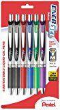 #7: Pentel EnerGel Deluxe RTX Gel Ink Pens 0.7 Millimeter Metal Tip Assorted Colors 6 Pack (BL77BP6M)